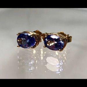 Jewelry - 14KT Yellow Gold Tanzanite Earrings